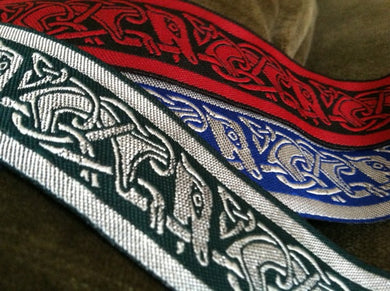 Celtic Running Dog Fabric Trim - 10 yards - 1 1/4