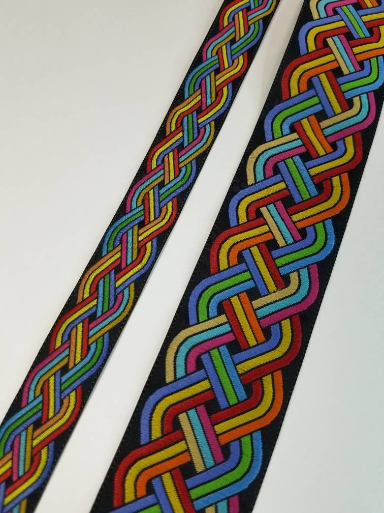 Rainbow Celtic Knot Trim - 10 yard lot