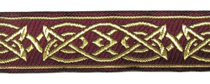 Brown Gold Saxon Knot Trim - Celtic Trim by the Yard