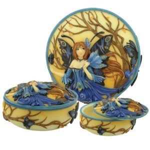 Blue Peacock Fairy Box