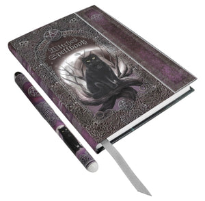 Cat Book of Spells Embossed Journal & Pen