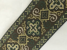 Vestment Cross Trim - Green Renaissance Trim by the Yard
