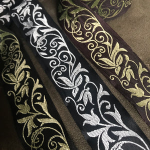 Fae Vine Fabric Trim 1 3/8 inch reversible Trim by the Yard