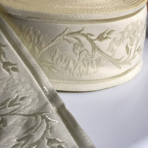 Cream Eternal Vine Trim 1 3/8 inch reversible Trim by the Yard