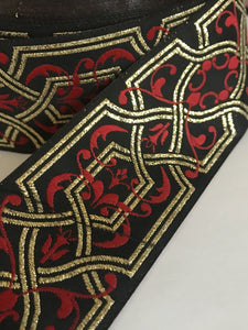 "Renaissance Knotwork Jacquard Trim - 10 yards 1 1/2"" Sewing Trim"