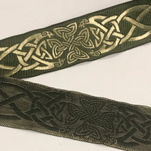 Moss Gold Spirit of Old Celtic Trim 1 3/8 inch reversible Trim by the Yard
