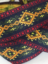 "Norse Viking Trim - 10 Yards 1"" Scandinavian Jacquard Fabric Trim"