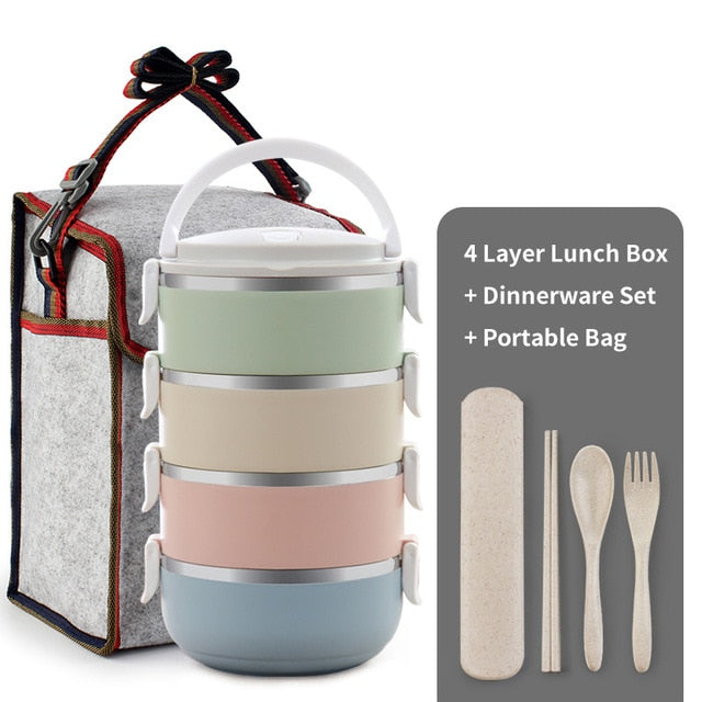 Thermal Lunch Containers (4 Layers)