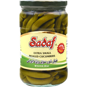 Pickled Cucumbers Extra Small Sadaf (Pickle)(Khiar shoor)
