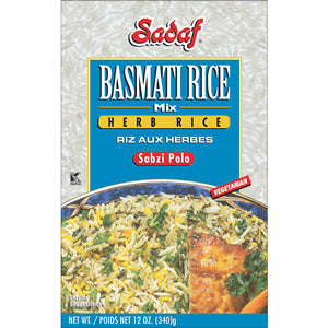 Basmati Rice Mix Herb Rice Sadaf (Sabzi Polo)(Berenj)