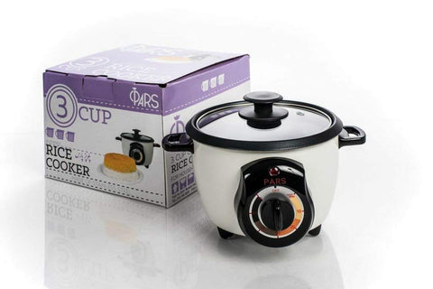 3 CUP Rice Cooker Automatic PARS - Rice Crust (Tahdig)Maker - (PoloPaz) DRC-200