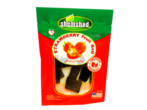Strawberry Fruit Roll Shemshad (Lavashak e Toot Farangi)