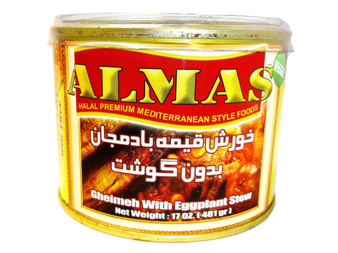 High Quality Gheimeh With Eggplant Stew Almas Canned (No Meat)(Ready to eat)