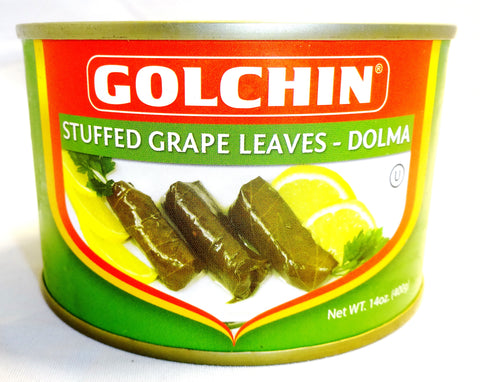 Stuffed Grape Leaves With Rice Golchin (Dolma-Dolmeh)