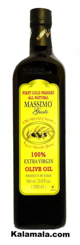 Extra Virgin Olive Oil Massimo Gusto (2 Packs)(1 Liter Each)