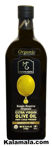 Extra Virgin Organic Olive Oil Massimo Gusto (2 Packs)(1 Liter Each)
