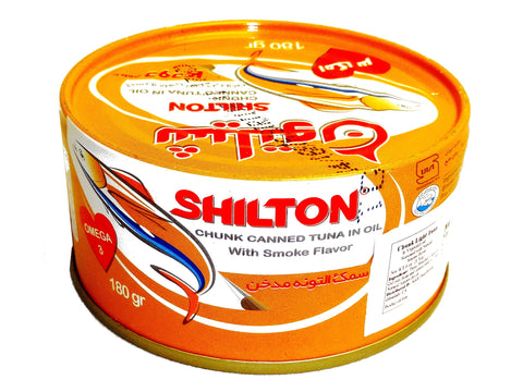Smoky Chunk Canned Tuna in Oil Shilton (Ton e Mahi) (Easy Open)