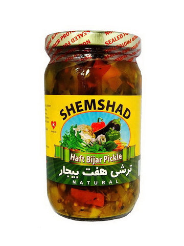 Pickled Coarse Mixed Vegetable Shemshad (Torshi Haft e Bijar-Turshi)