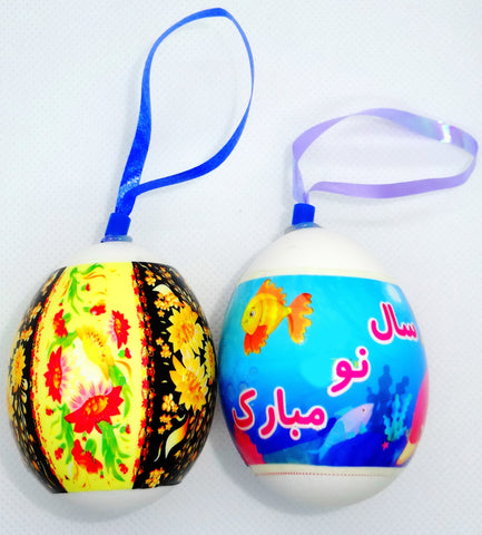 Haft sin Decorative Eggs #3 (Set of Two)(Colored Egg)