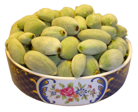 Fresh California Green Almonds(2Pounds)(PLEASE READ THE DESCRIPTION BELOW BEFORE ORDERING)(Chaghale Badoom)(Chaghaleh Badam)