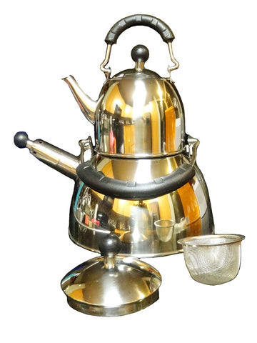 Narita Double Whistling Kettle with Strainer (Ketri)