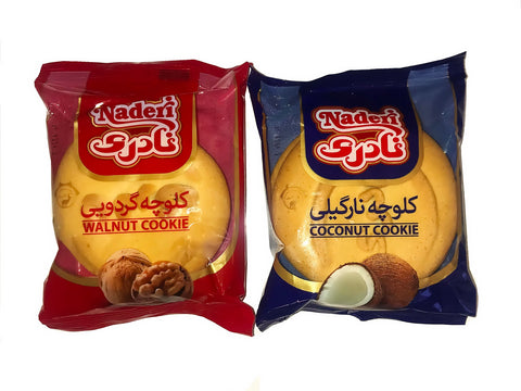 Cookie Naderi Walnut&Coconut Open box Koloocheh(48 pcs)(24 bags)