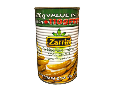 Pickled Cucumbers Cornichons Zarrin (Khiar shoor)(Easy Open)