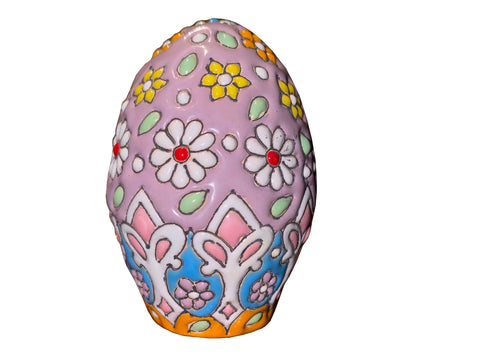 Haft sin Decorative handcrafted Clay Egg (Colored Egg)