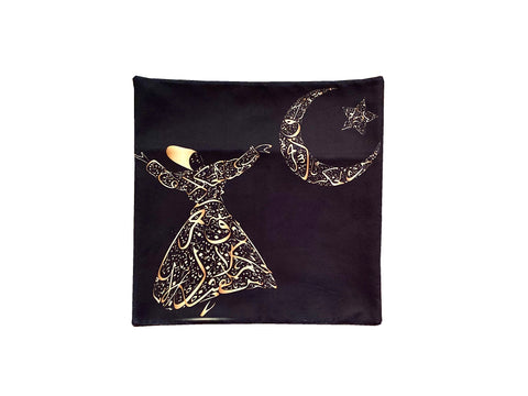 Beautiful Pillow/Cushion Case with printed Sama dance (Roo Baleshi)