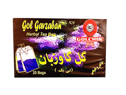 Herbal Tea Bag Golchin (Borage)(20 Bags)(Gol Gavzaban)(Chai)