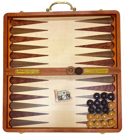 Fancy Wooden Eye-Catching Backgammon/Chess Set (Takhteh Nard-Shatranj)