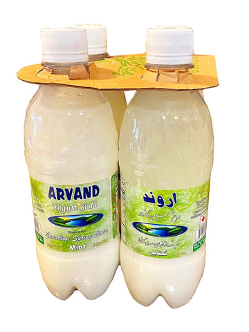 Yogurt Soda Mint Flavor Arvand (4 Packs) (Doogh)(Dough)(Nanaaie)