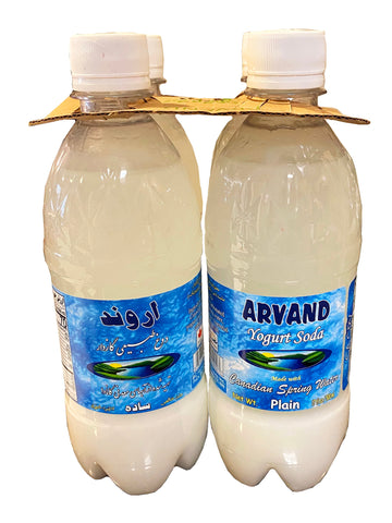 Yogurt Soda Plain Arvand (4 Packs) (Doogh)(Dough)