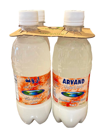 Yogurt Soda Tart Flavor Arvand (4 Packs) (Doogh)(Dough)(Ghashghaie)
