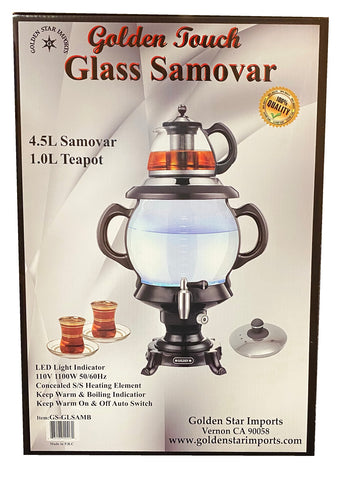 Fancy Electric Glass Tea Maker Golden Touch (Samovar)(Samavar)