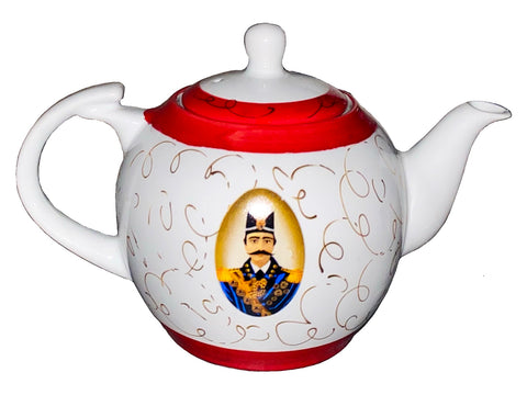 Traditional Hand Painted Shah Abbas Ceramic Teapot (5 Cups)(Ghoori)