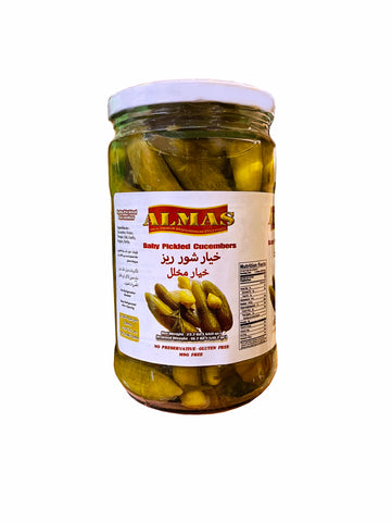Baby Pickled Cucumbers Almas (Khiar Shoor)
