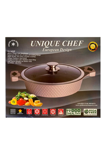 5.5 QT Unique Chef European Design Pot (Ghablameh)