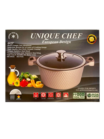 6 QT Unique Chef European Design Pot (Ghablameh)