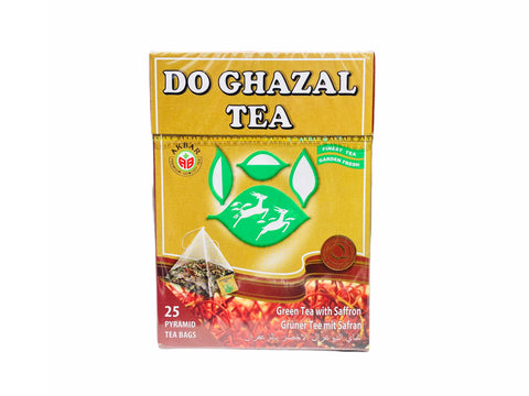 Do Ghazal Green Tea With Saffron (25 Bags)(Chai Sabz)