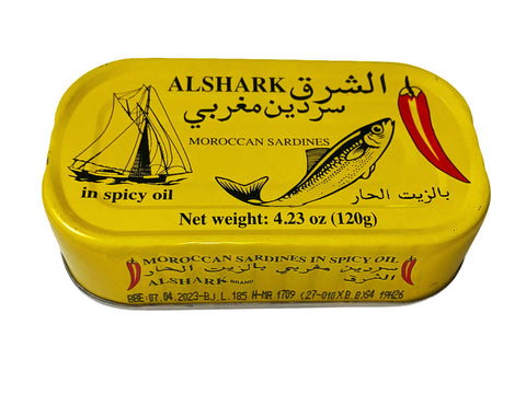 Moroccan Sardines In Spicy Oil Alshak (Ton e Mahi)(Easy Open)