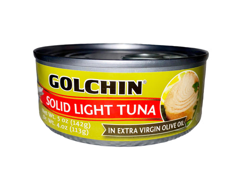 Solid Light Tuna In Extra Virgin Olive Oil Golchin (Ton e Mahi)(Easy Open)
