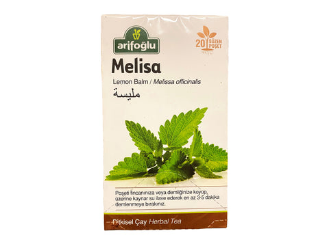 Arifoglu Lemon Balm Herbal Tea (Melisa Cay)(Chai Badranjbooyeh) 20 Tea Bags