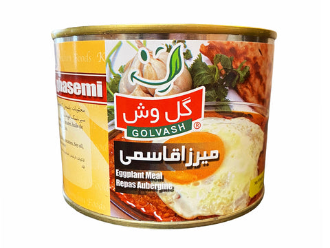 Mirza Ghasemi (Eggplant Meal) Golvash In Can