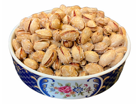Best Quality Fresh Akbari Shamsi Pistachio Roasted With Sea Salt (Pesteh Akbari Shoor)