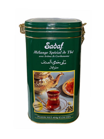 Special Blend Tea with Cardamom Flavor Tin Sadaf (Chai ba Hel)