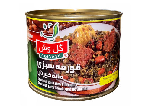 Ghormeh Sabzi Stew Golvash in Can (No Meat)(Khoresh)