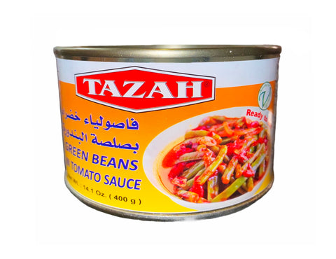 Green Beans In Tomato Sauce Tazah (Loobia-Loubia)