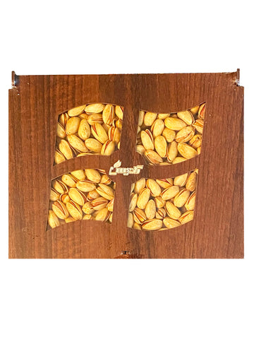 Akbari Pistachio Gift Pack Goldis In Wooden Box (Pesteh Kadoee)