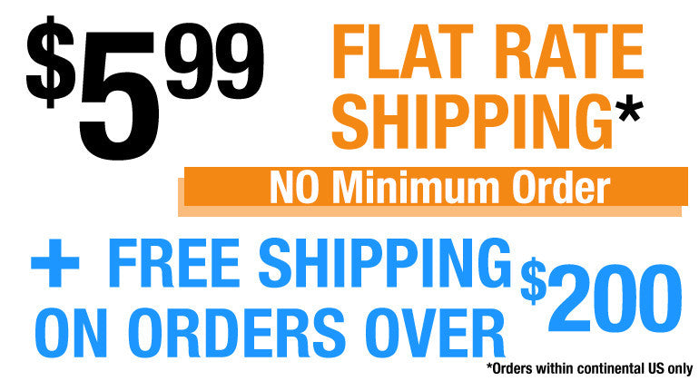 $5.99 Flat Rate Shipping